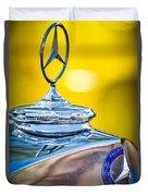 Mercedes-benz Hood Ornament - Emblem -0961c Duvet Cover