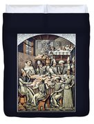 Merchants Paying Taxes Duvet Cover