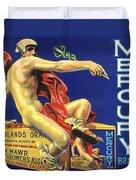 Mercury Greek God Label Duvet Cover