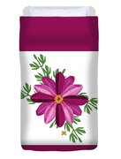 Merlot Cosmos Botanical Duvet Cover by Anne Norskog