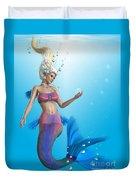 Mermaid In Aqua Duvet Cover