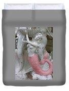 Mermaid In Pink Duvet Cover
