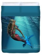 Mermaid Of The Ocean Duvet Cover
