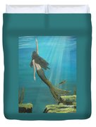 Mermaid Of Weeki Wachee Duvet Cover