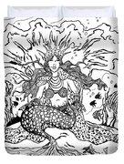 Mermaid Queen Duvet Cover