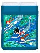 Mermaid Race Duvet Cover