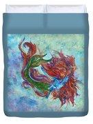 Mermaid Swimming Duvet Cover