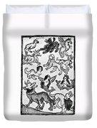 Mermaids, 1475 Duvet Cover