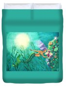 Mermaid's Garden Duvet Cover