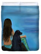 Mermaids Loyal Bud Duvet Cover