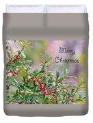 Merry Christmas - Berries Duvet Cover