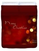 Merry Christmas Card - Bokeh Duvet Cover