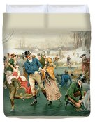 Merry Christmas Duvet Cover by Frank Dadd