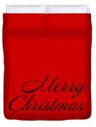 Merry Christmas In Black Duvet Cover