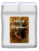 Merry Christmas Reindeer 2 Duvet Cover