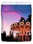 Merry - Go - Round At Sunset Duvet Cover