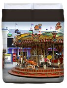 Merry-go-round At The Prater Duvet Cover
