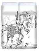 Merry-go-round Horse Duvet Cover