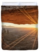 Mesa Arch Sunrise 4 - Canyonlands National Park - Moab Utah Duvet Cover