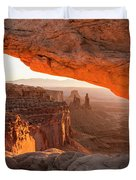 Mesa Arch Sunrise 5 - Canyonlands National Park - Moab Utah Duvet Cover
