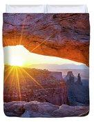 Mesa Arch Sunrise Duvet Cover