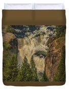 Mesa Falls In Summer Duvet Cover