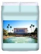 Mesa Temple Pool Duvet Cover