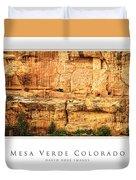 Mesa Verde Colorado Gallery Series Collection Duvet Cover