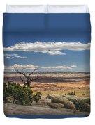Mesa View In Utah Duvet Cover