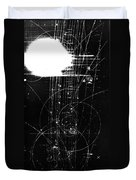 Mesons, Bubble Chamber Event Duvet Cover