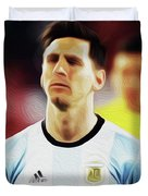 Messi #23 By Nixo Duvet Cover