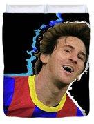Messi 3498 By Nicholas Nixo Efthimiou Duvet Cover