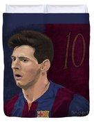 Messi-digital Oil Painting  Duvet Cover