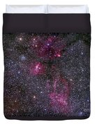 Messier 52 And The Bubble Nebula Duvet Cover