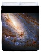Messier 66 Galaxy Enhanced Duvet Cover