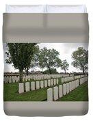 Messines Ridge British Cemetery Duvet Cover