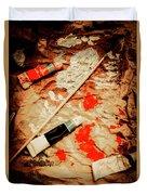 Messy Painters Palette Duvet Cover