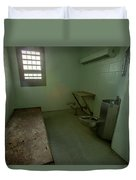 Metal Bed Inside Solitary Confinement Cell Duvet Cover