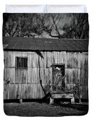 Metal Building On The Grounds At Fort Delaware Near Delaware City Duvet Cover