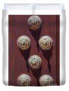 Metal Door Ornaments Duvet Cover
