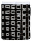 Metal Panel With Holes Abstract Duvet Cover