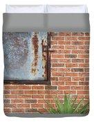 Metal, Rust And Brick Duvet Cover