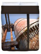 Metal Silos Duvet Cover