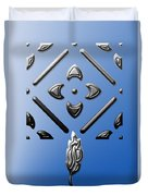 Metallic Blue Duvet Cover