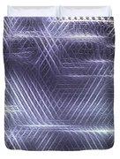 Metallic Cross Pattern  Duvet Cover