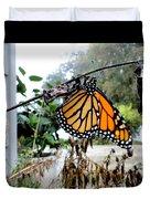Metamorphosis Of The Monarch Duvet Cover