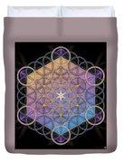 Metatrons Cube Duvet Cover