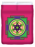 Metatron's Cube Mandala Duvet Cover