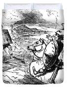 Metius Aggravating Titus Manlius Duvet Cover