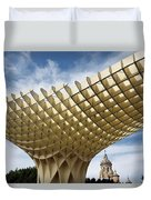 Metropol Parasol At The Plaza Of The Incarnation In Seville Spai Duvet Cover